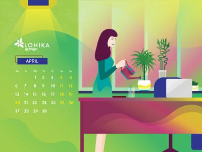 Calendar 2020 April