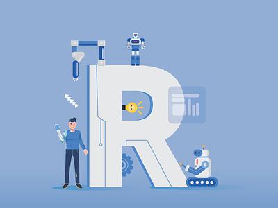 R for Robotics courses art 36daysoftype graphic illustration design alphabets robotics