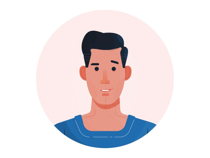 Portrait ui art character vector illustration graphic design portrait