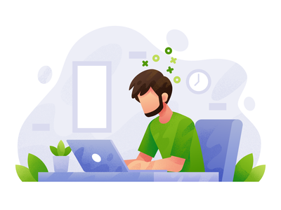 Work From Home flat affinity designer design flat illustration creative concept graphic designer flat design freelancer illustrator procreate vector illustration workfromhome