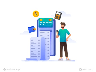 Tracking and manage your expenses Illustration concept onboarding illustration onboarding ui onboarding flat madeinaffinity illustrator affinity designer flat illustration illustration vector expense management finance finance app