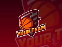 """Your Team"" Basketball Logo"