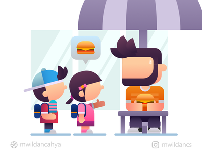 Give your burger to me food burger character vector inspiration flat illustration vector illustration vector art illustrator madeinaffinity affinity designer illustration creative artwork concept design flat design flat vector