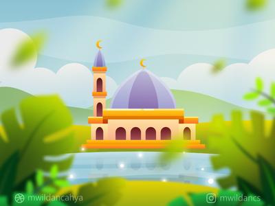 a Masjid near the Lake