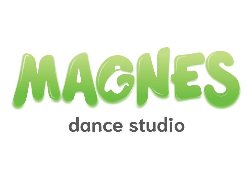 Magnes logotype dance studio dance logo