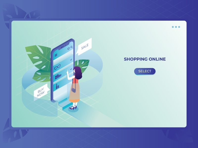 Online shopping choice shop app shop peoples girl online online shopping smartphone phone app phone isometric isometry illustration people