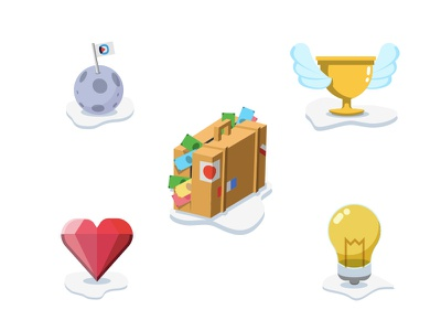 Icons for gaming site monetization solutions passion empowerment ownership