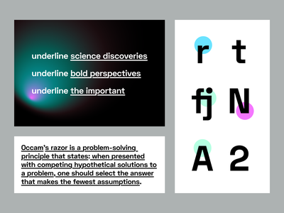 underline typography typography animation science branding