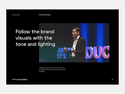 underline brand guidelines science rules gradient brand video brandbook guidelines branding