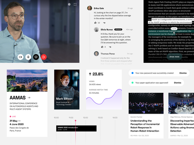 underline components live streaming video chat science web ui styleguide design system components