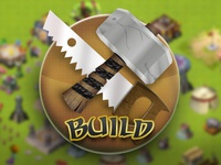 """Build"" icon from isometric game project"