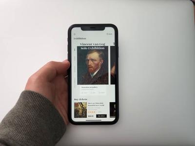 Art Museum Application Animation dynamic effect ux app logo design ui