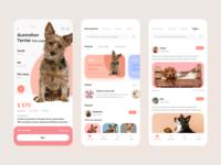 Pet app 设计 ui app pet app pet