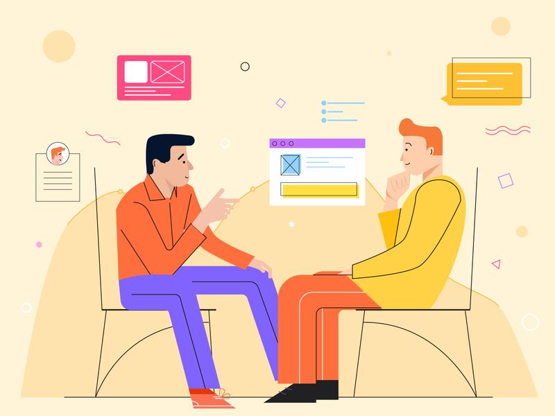 Data business chat 人物插图 插图 data visualization business chat data
