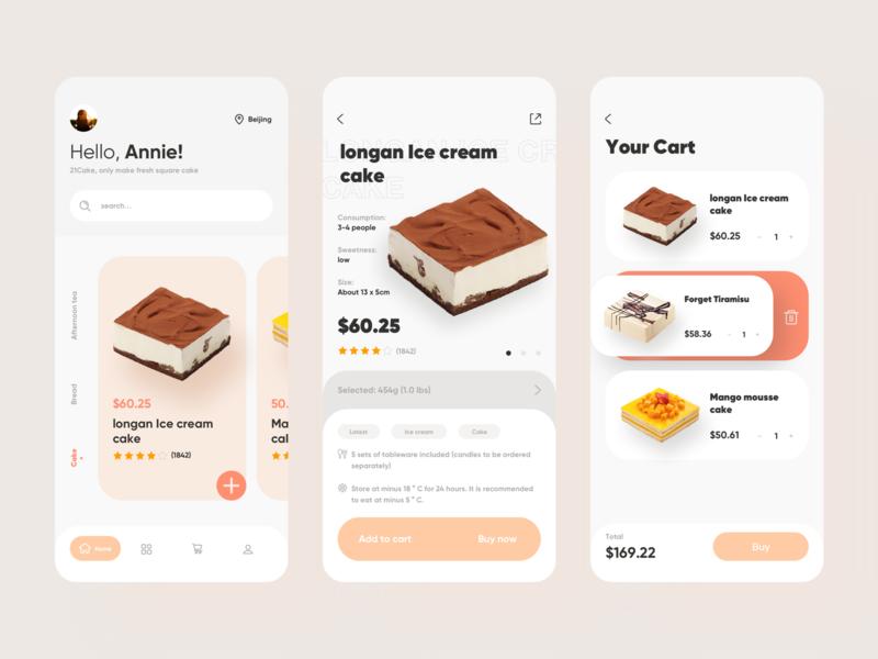 Buy cake app online mall commodity buy uidesign ui app