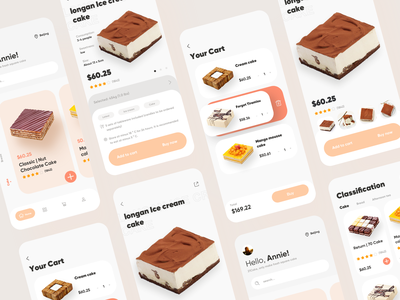 Buy cake app online e-commerce buy app logo ux design ui cake