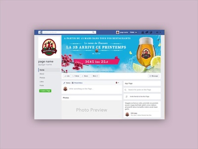 Facebook banner - launch of a spring beer