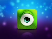 Mike Wazowski interface design user interface icon design