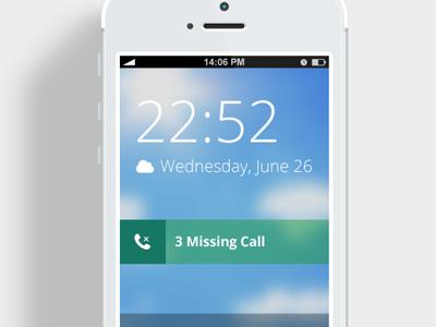 Iphone Home Screen interface design user interface