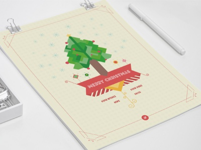 Christmas Poster illustration graphic design