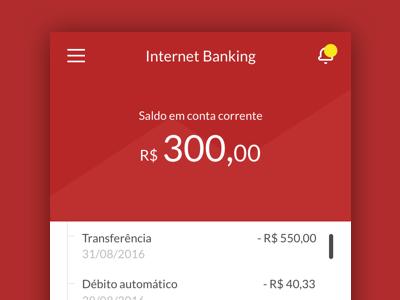Internet Banking design ui mobile