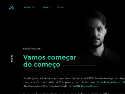 About Page - Portfolio 2017 ux design ui design web design