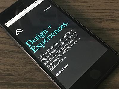 Mobile Portfolio - Flasa18 ui portfolio mobile