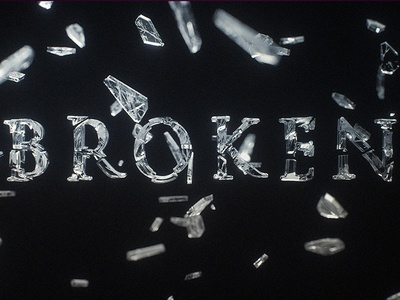 C4D Shattered Type - Cinema 4D Tutorial (Free Project)