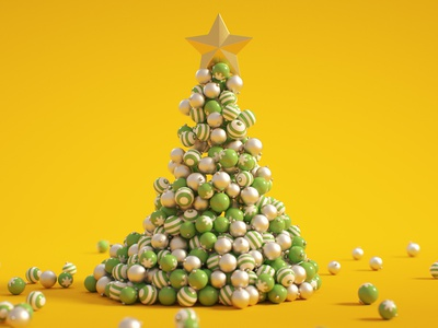 C4D Christmas Tree - Cinema 4D Tutorial (Free Project) decorations octane motion graphics baubles new year dynamics santa christmas template merry christmas xmas tree christmas tree xmas holidays christmas mograph tutorial cinema 4d c4d
