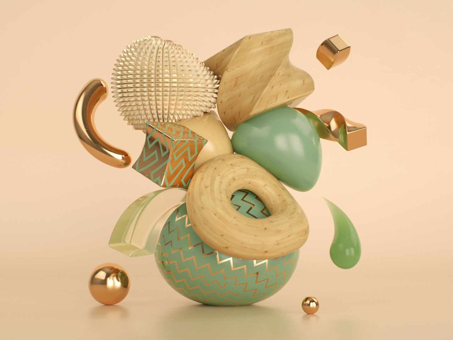 C4D Abstract Art with Deformers - Cinema 4D Tutorial by CG