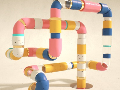 C4D Pipes - Cinema 4D Tutorial (Free Project)