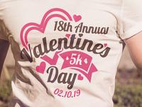 Valentine's Day 5k T-shirt Design
