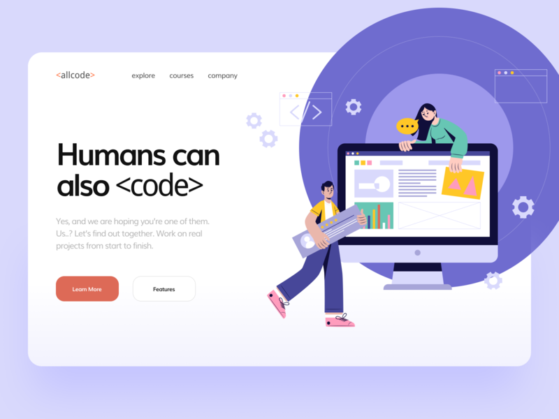 Learn Coding web development learn clean ui education tutorial hosting css html development coding web design web design concept interface illustration ui flat minimal