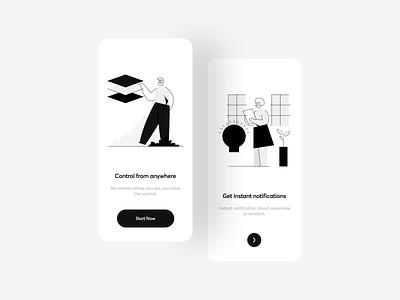 Smart Home App vector typography concept ios trending illustration flat minimal ui mobile ui mobile app smart product smart home