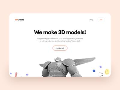 Ecommerce 3D Model Website clean ui dark mode light mode website design webdesign design concept mobile app ios modern trending interface illustration ui typography minimal