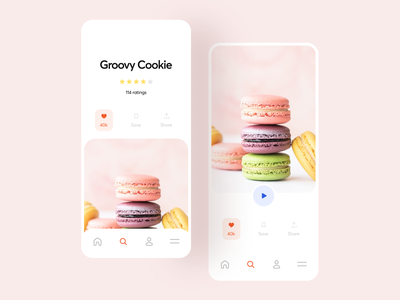 Bakery App ux business clean ui mobile ui bakery ecommerce mobile app concept photography illustration ui interface typography flat minimal