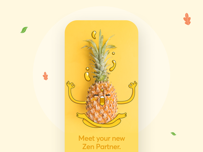 Zen Life App ux meditation flatdesign clean ui ios mobile design mobile mmobile ui partner mascot vector illustration typography flat minimal
