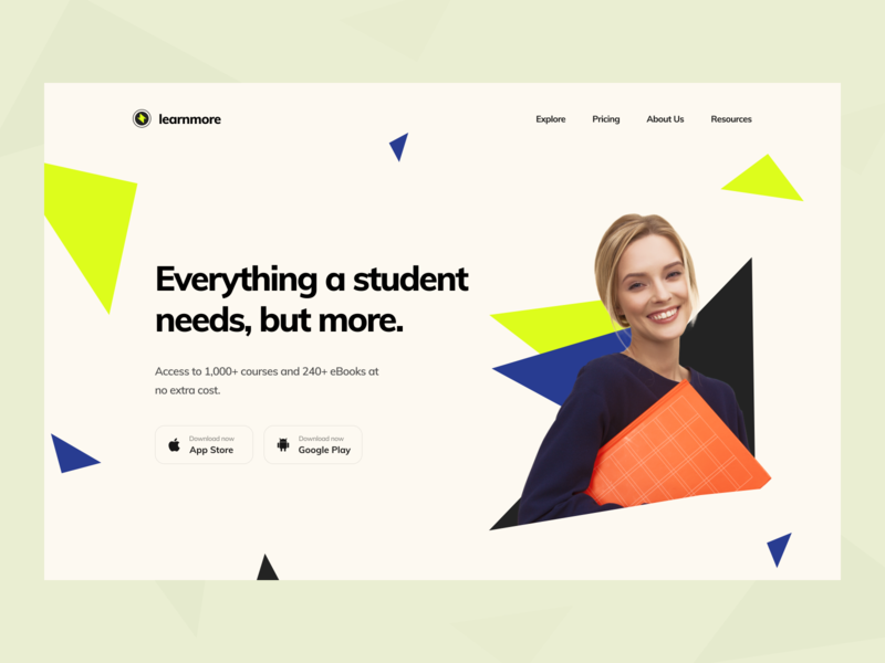 Education Platform Exploration clean ui dribbble modern trending concept mobile app illustration interface triangle pattern typography education app education