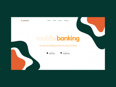 Online Banking Platform abstract pattern banking finance ecommerce vector mobile app illustration ui interface minimal flat typography
