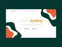 Online Banking Platform abstract pattern banking finance ecommerce vector mobile app illustration ui interface minimal flat typography
