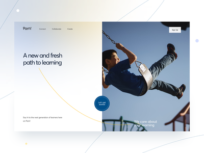 Edtech Platform website landing education edtech branding logo graphic design