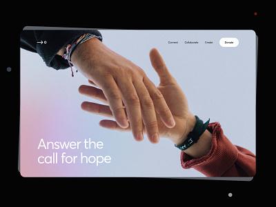 Non-profit Organisation Landing Page landing webpage website logo design illustration interface ui typography flat minimal