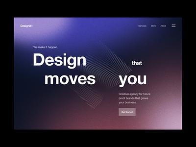 Design Studio Landing gradient design interface typography flat minimal ui graphic design branding logo 3d web design website landing