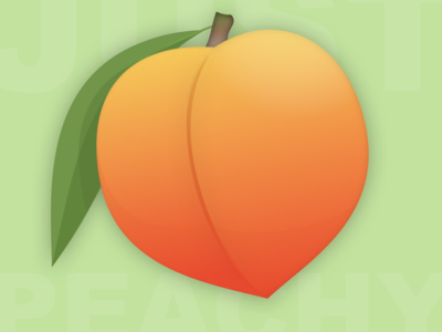Just Peachy georgia vector illustration illustraion fruit peach