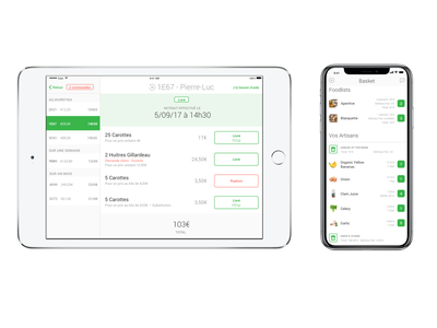 Interface for Food Orders for on demand delivery ios iphone design log ipad order process ux ui touch