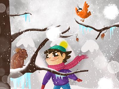 🖤 winter illustration art design