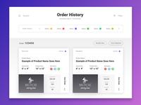 order history [wip]