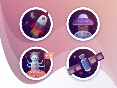 Space Icons/Illustrations
