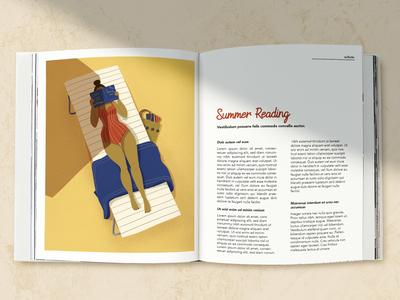 Summer Reading Illustration