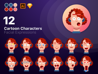 12 Cartoon Characters